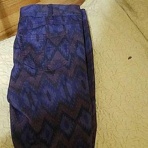 Free People Tribal Print Skinny Jeans